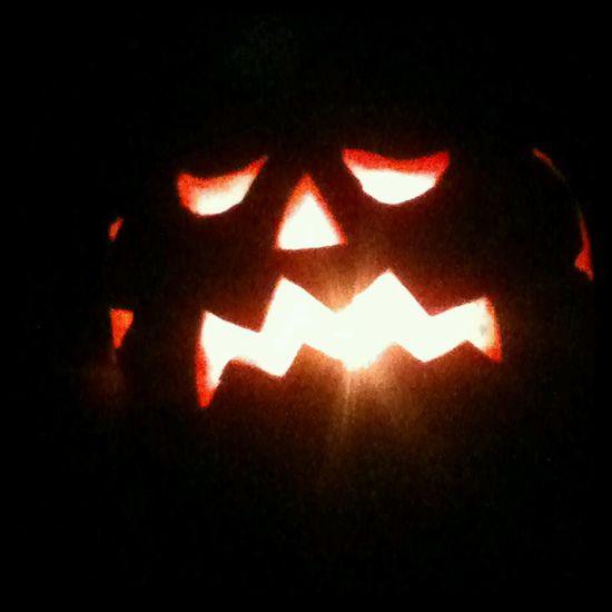 last years Jackolanterns Pumpkin Halloween