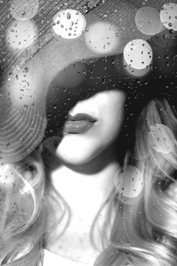 Fierce Girl Fantasy Noir Blackandwhite Black And White Fem Fatal Female Double Exposure Rain Rain Drops Woman Strong Woman Portrait Powerful Woman Blonde Blonde Girl Shadows & Lights Shadow Vintage Photo Vintage Female Model Lovely Woman Portrait Painting Dangerous Woman Hat Young Women Human Face Full Frame Close-up
