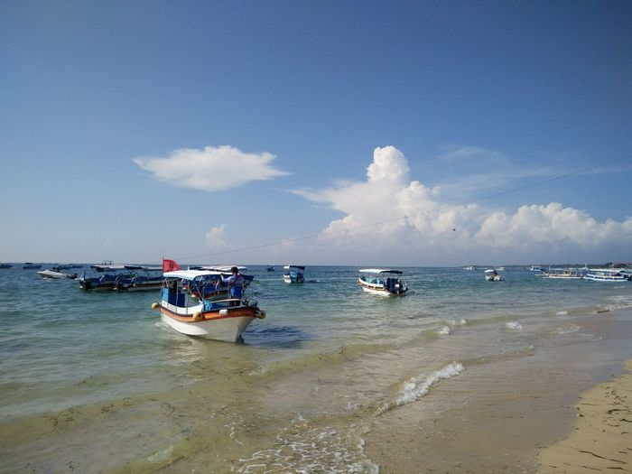 Beauty In Nature Tanjungbenoa Bali, Indonesia Blue Boat Cloud Cloud - Sky Day Horizon Over Water Idyllic Mode Of Transport Nature Nautical Vessel Non-urban Scene Outdoors Remote Scenics Sea Shore Sky Tourism Tranquil Scene Tranquility Vacations Water