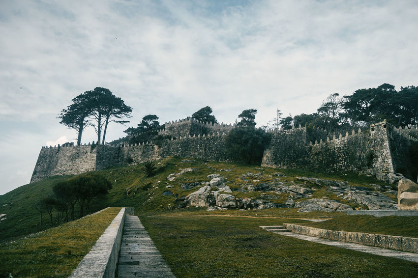 Architecture Baiona Castle Galicia SPAIN Wall Beauty In Nature Cloud - Sky Clouds Day Fortification Fortress Grass Growth Hill Landscape Medieval Nature No People Outdoors Scenics Sky Tranquil Scene Tranquility Tree