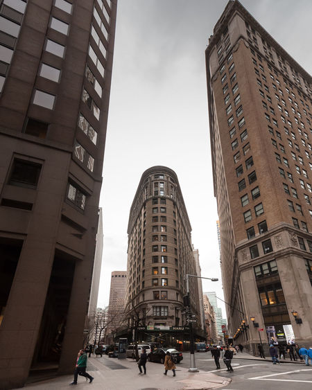 Adult Architecture Building Exterior Built Structure City City Life Cityscape Day Group Of People Large Group Of People Low Angle View Men Modern New York New York City Newyork Outdoors People Real People Sky Skyscraper Street Travel Destinations Women