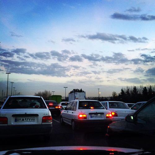 Tehran Iran Traffic Azadi Square Cars Truck ایران تهران ترافیک میدان آزادی