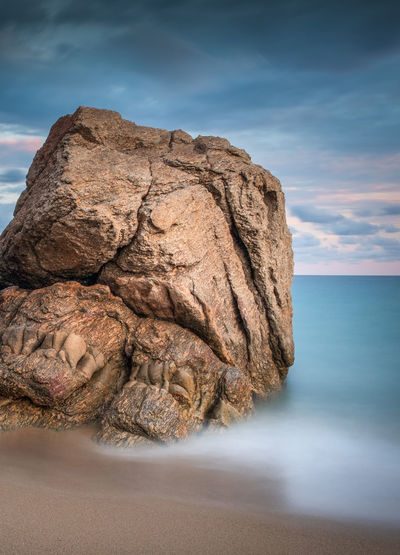 France Mediterranean  Beach Beauty In Nature Cloud - Sky Horizon Horizon Over Water Land Long Exposure Nature No People Non-urban Scene Rock Rock - Object Rock Formation Scenics - Nature Sea Sky Solid Stack Rock Tranquil Scene Tranquility Water