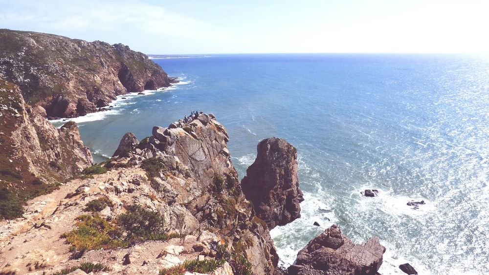 The Amazing View in the Cabo Da Roca Portugal_em_fotos Landscapes With WhiteWall Scenic Beauty Scenic Landscapes Scenic Lookout Enjoying The View The EyeEm Magazine Outdoor Photography Outdoors Sea And Sky Cliffside Taking Photos EyeEm Gallery EyeEm Nature Lover EyeEm Best Shots Landscape With Whitewall Week Of Eyeem Week On Eyeem Showcase April Cabo Da Roca. Sintra Tourist Destination EyeEm Best Shots - Nature Tourist Attraction