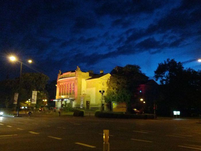 At Night The Purist (no Edit, No Filter) Stadttheater Gießen bei Nacht