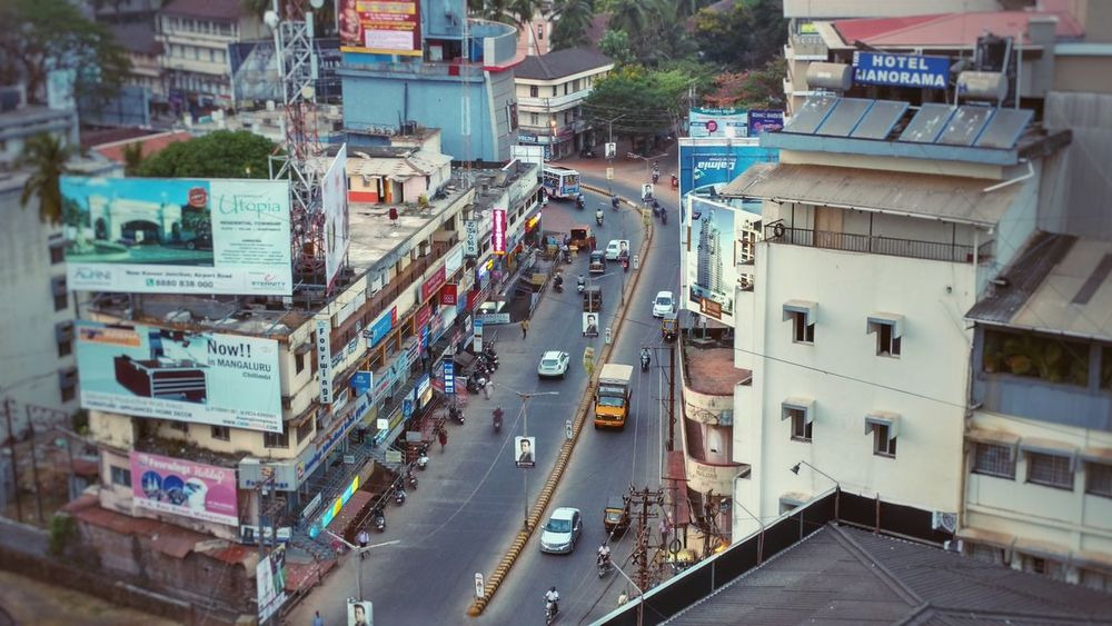 Mangalore. Mangalore Rooftop View  Traffic Road India Indian Roads Indian Traffic Urban Spring Fever The Architect - 2016 EyeEm Awards Adapted To The City