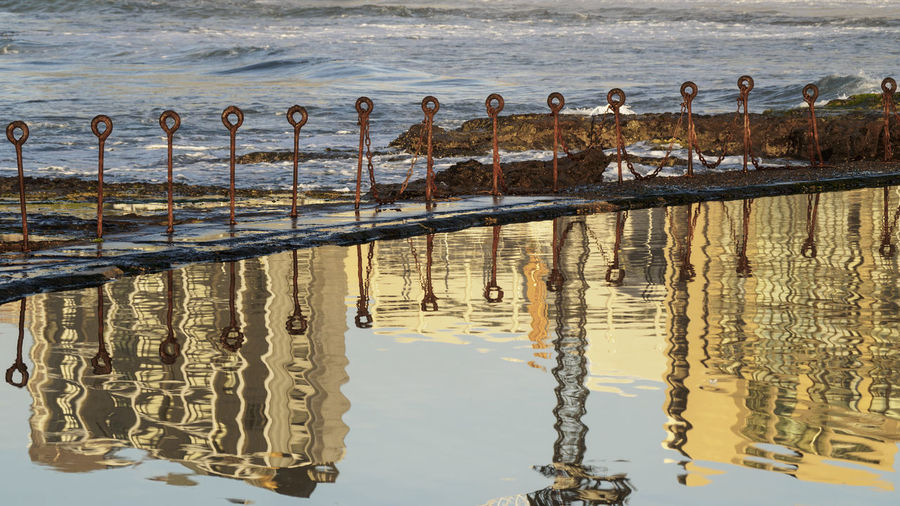 Reflection Of Buildings On Water