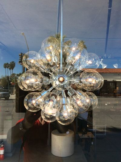 Window Reflections Glass Bulbs selfie Central Palm Springs street scene Morning Sunshine I-pad Photography Taking Photos Blue Sky From My Point Of View California USA Electric Rings Feb 2016 Check This Out Shop Interior Design vintage contempory life