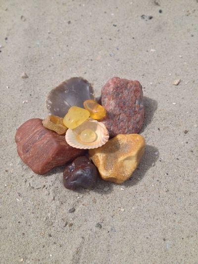 Stoned Schatz Gem Bernstein Sandy Beach Beach Sand Sea Seashell Close-up Gemstone  Semi-precious Gem Mineral