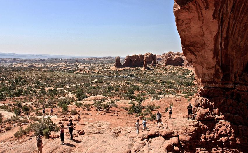 People at arches national park