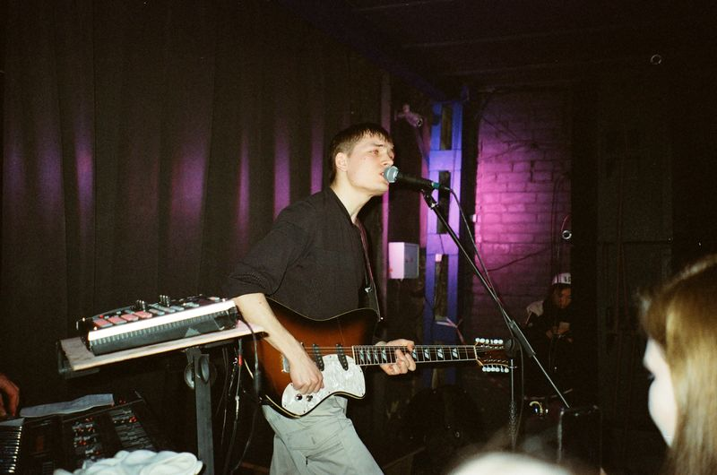 GENTS Olympus Mjuii Analogue Photography Film Photography Film 35mm Film Electric Guitar Standing Stage Skill  Men Singer  Guitar Young Men Real People Playing Artist Microphone Musical Equipment Arts Culture And Entertainment Musician Performance Musical Instrument Music