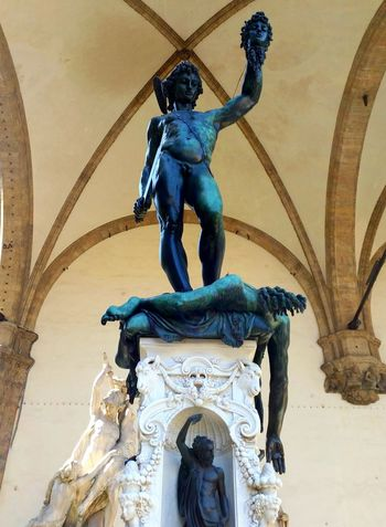 'Perseus with the head of Medusa' by Cellini, Florence.... Piazza Della Signoria Firenze, Italy Florence Italy Statue Architecture Art Is Everywhere Sculpture Outdoors Travel Destinations