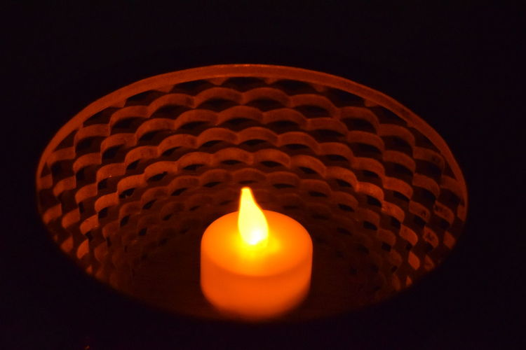 candle lit bowl