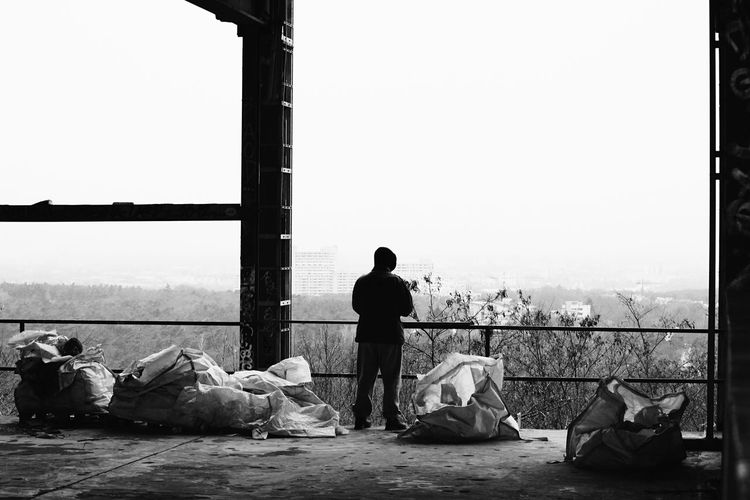 Hello World Hello Berlin Teufelsberg Berlin Men One Person Sky Berlin Eye For Details Lostplaces Real Life Taking Pictures Click Click 📷📷📷 Through My Eyes Rotten Places Exploring Enjoying Life Blackandwhite Blackandwhite Photography Germany🇩🇪