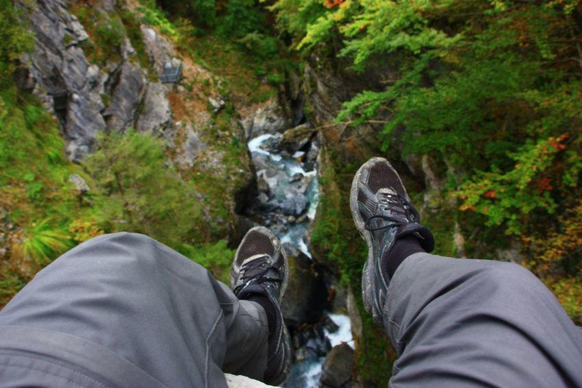 Mountain Lookout High Pantenbrücke Canyon Water Idyllic Swiss Outdoors Linththal Pass Glarus Nature Bridge