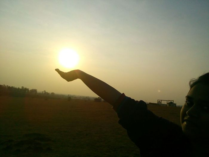 🌞in my ✋....here coming another hanuman😁😉 Great Morning Sunrise First Eyeem Photo