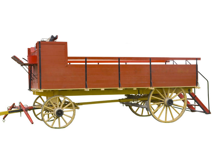 ancient hay cart Agriculture Ancient Canada Farm Farm Life Farming Freight Transportation Hay Cart Isolated Land Vehicle No People Nostalgia Old Red Rural Rural Scene Trailer Transportation Vehicle Vintage Wagon  Wheel White Background Wild West Wooden