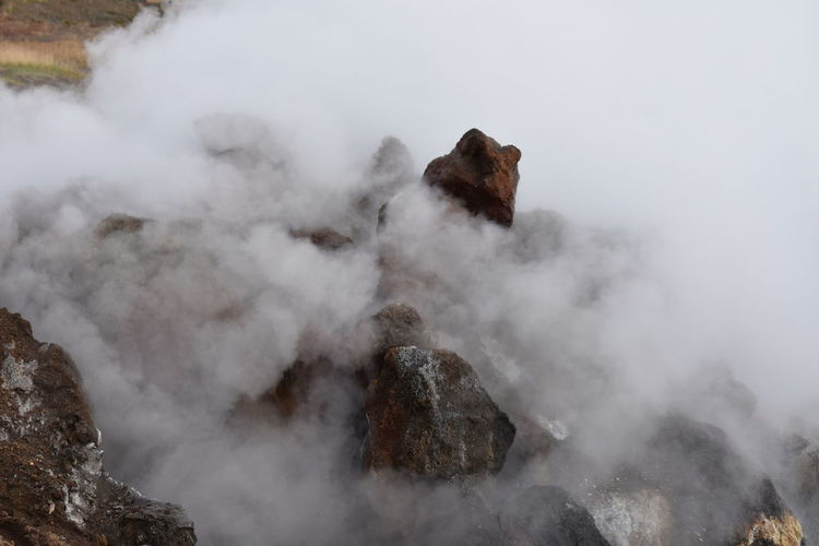 Beauty In Nature Day Environment Geology Heat - Temperature High Angle View Landscape Mountain Nature No People Non-urban Scene Outdoors Power In Nature Rock Rock - Object Scenics - Nature Smoke - Physical Structure Solid Steam Tranquil Scene Volcanic Activity
