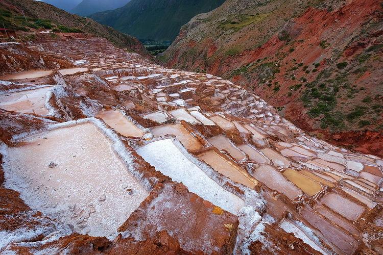 Maras Salt Mines Salt Salt Mine Maras Peru Landscape Man Made Object Empty No People Mountain Scenics Scenery Mine