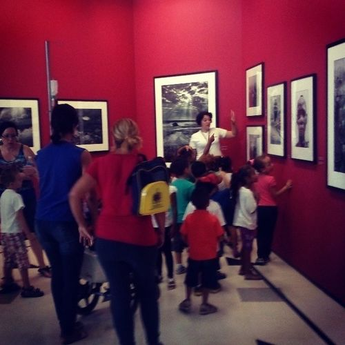 Awesome things about Brazil 278 : Giant exhibition of Sebastião Salgado, free admission, some school classes of young kids around. Brazil Openculture