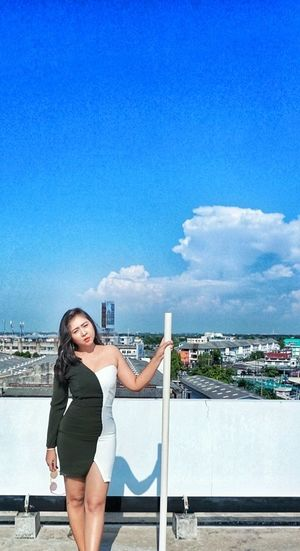 Hot Hot Day Summer ☀ Viewpoint Shapes And Design Shape And Pattern So Hot Tanning ☀ Summer Exploratorium Architecture Sky One Person Young Adult City Beautiful Woman Beauty Standing Young Women Built Structure Portrait Building Exterior Outdoors
