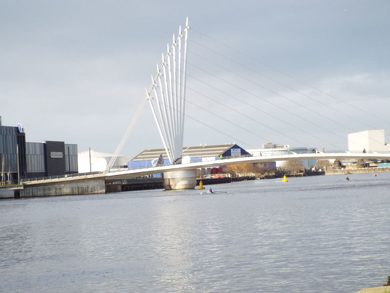 Media City Uk footbridgeMedia City Salford Salford Quays Salford United Kingdom Manchester Ship Canal