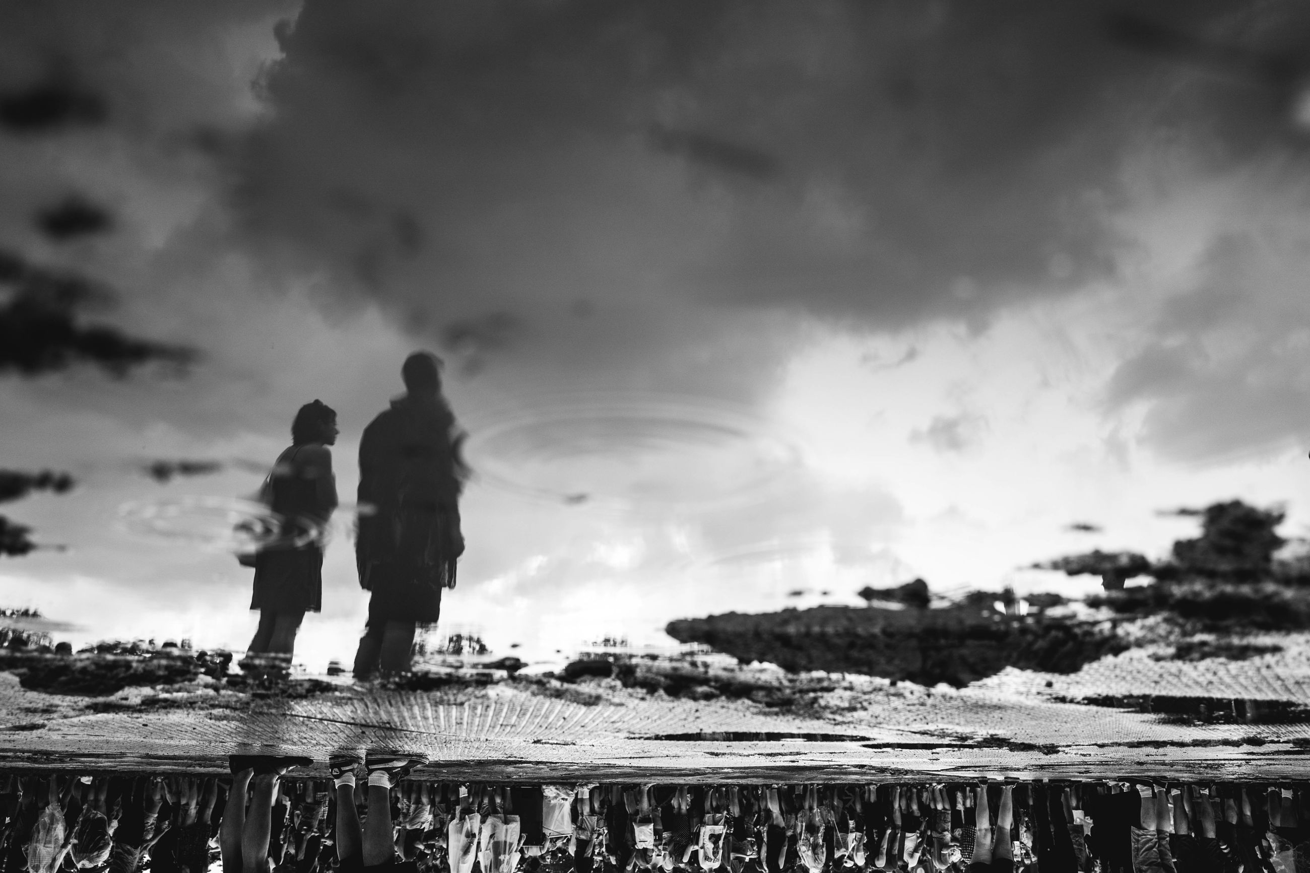 two people, sky, water, outdoors, togetherness, sea, cloud - sky, nature, bonding, city, beauty in nature, beach, people, day, adult