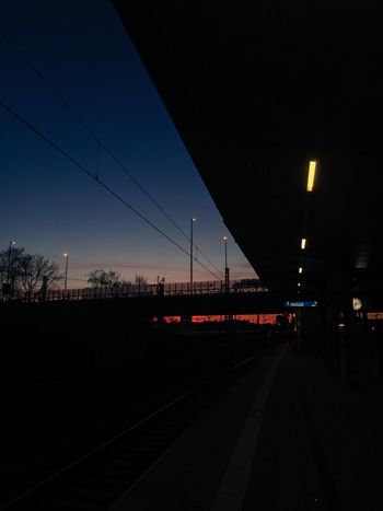 Sunrise Transportation Railroad Track Rail Transportation City No People Outdoors Public Transportation Sky Architecture