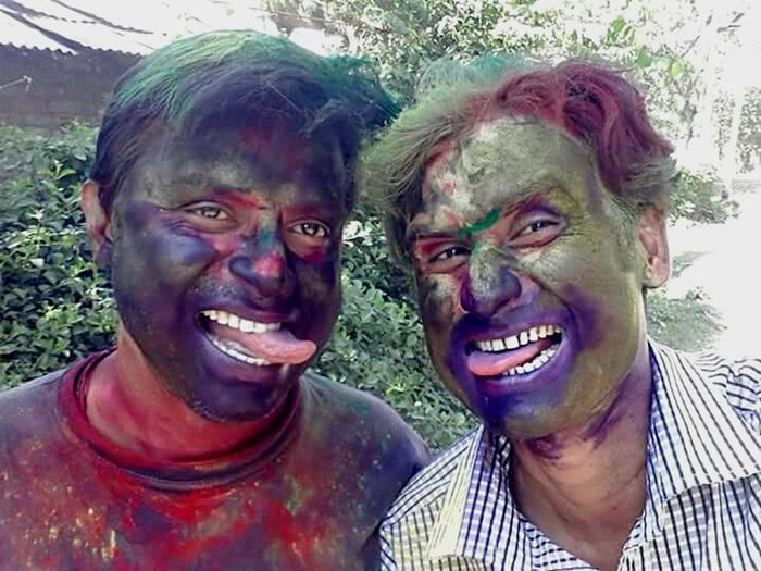 What if we become funny for a day with color in our face ? Don't care if you say we are already funny .... ha ha ha ... Happy Holi to all my friends. Me And My Friend It's Me That's Me Funny Faces Color Of Life Holi Festival Indian Culture  Indian Festival EyeEm Best Shots EyeEm Eye4photography  Eyeem West Bengal - India Hello World Check This Out EyeEm Gallery Snapshots Of Life My Country My People My Country My Culture My Country In A Photo Enjoying Life Holi Festival Of Colours Eyeem Best Moment Spring Festival .... and special wishes to my colorful sis People And Places