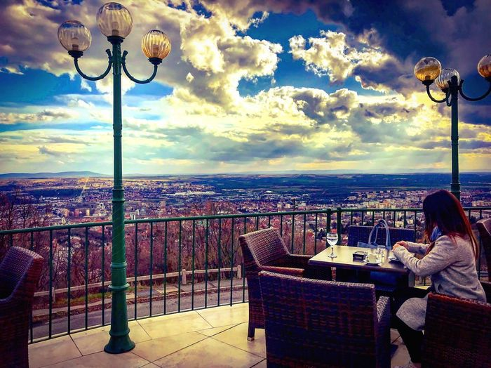 Warm Colors Hotel Srping Hello World Pécs Coffee Time Chilling Cloud - Sky Sea Sky Lighting Equipment Nature Water Street Light Outdoors Day