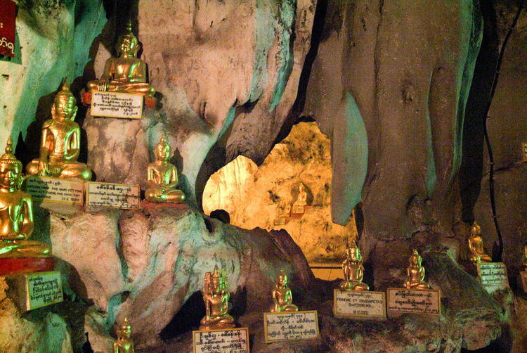 Buddha Golden Architecture Art And Craft Burma Cave Close-up Day Human Representation Myanmar No People Outdoors Sculpture Statue Staue  Tree