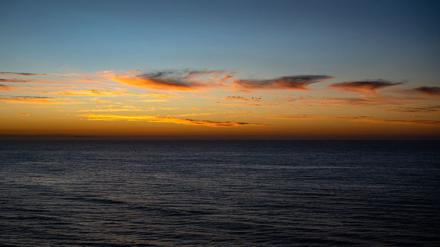 A few days after covid 19 pandemic annoucement, sunrise about to break over the southern ocean, aust