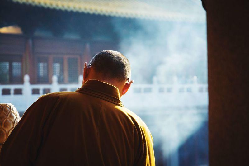 The Street Photographer - 2017 EyeEm Awards Real People Religion Monk  Buddhism China Shanghai