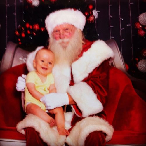Knox meeting Santa for the first time.