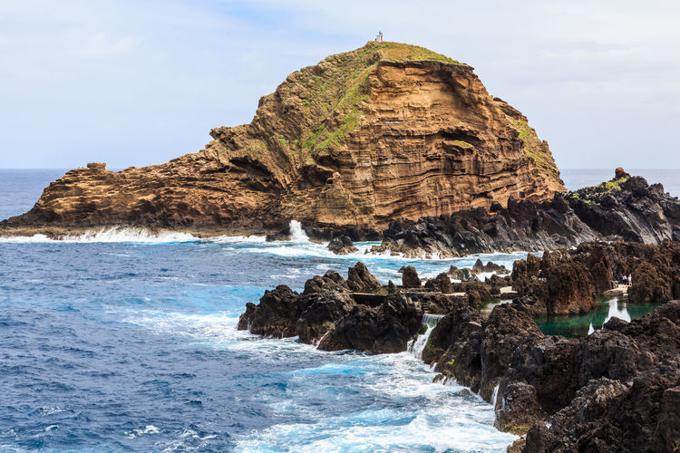 Madeira Islands, Portugal Sea Water Rock Rock - Object Solid Beauty In Nature Rock Formation Sky Land Beach Scenics - Nature Nature No People Motion Wave Day Tranquility Tranquil Scene Cliff Outdoors Horizon Over Water Stack Rock Eroded Rocky Coastline Formation