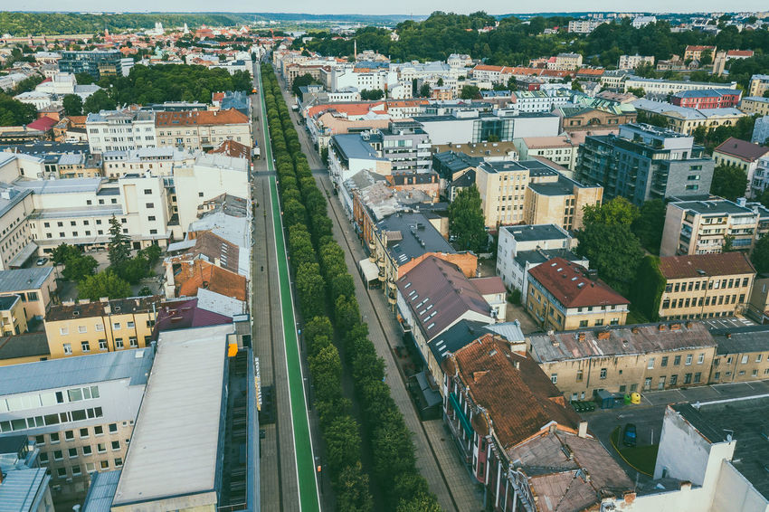 Kaunas aerial Aerial Shot Drone  Lietuva MÁV Architecture Building Exterior Built Structure City Cityscape Day Drone Photography High Angle View Linden Tree Mavic Pro No People Outdoors