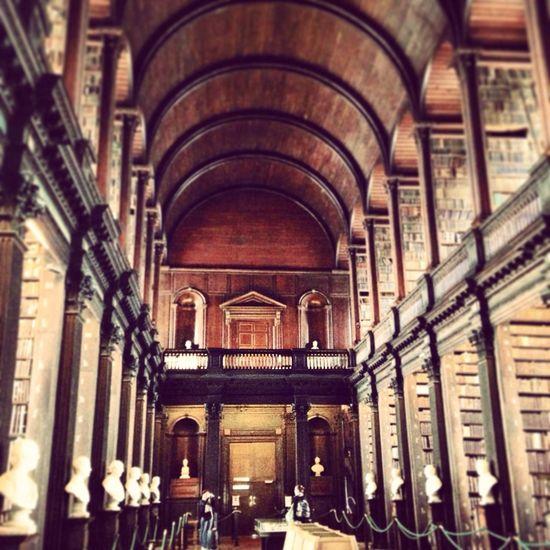 Tourist Trinity College Library In A Dream
