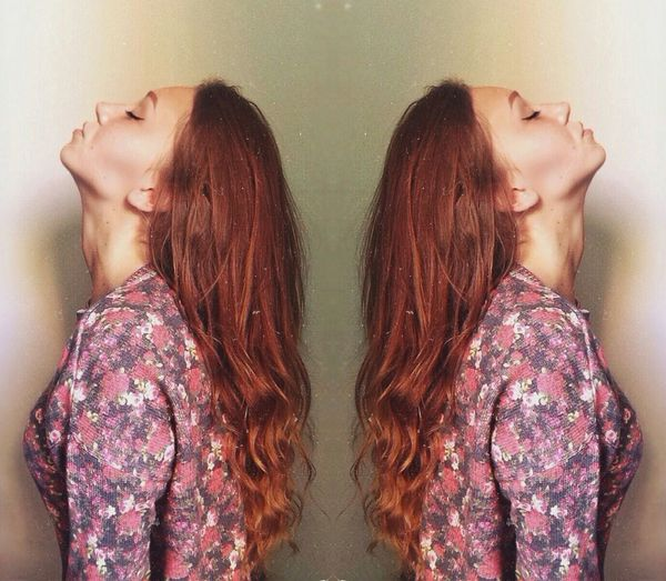 Ginger Redhair Redhairedgirl Mirror Reflection Twins