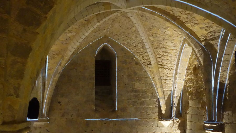Inside the Saint Joan of Arc Museum - Rouen, France Arch Arched Architectural Column Architecture Built Structure Cathedrals  Cellar Day History Indoors  Joan Of Arc No People Vaulted Ceilings Wine Cellar