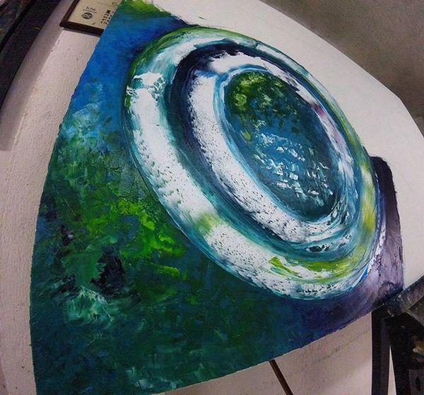 Nueva goma para los sábados en la mañana Pintandoando óleo Lienzo Talentocolombiano Poralgoseempieza Niseesmuyviejoniesmuytarde Sinfiltro