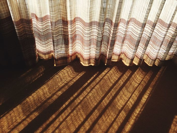 Indoors  No People High Angle View Pattern Curtain Sunlight Day Drapes  Close-up The Week On EyeEm