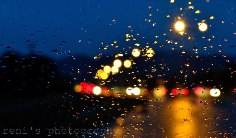 Rain Drops Night Lights Light EyeEm Best Shots