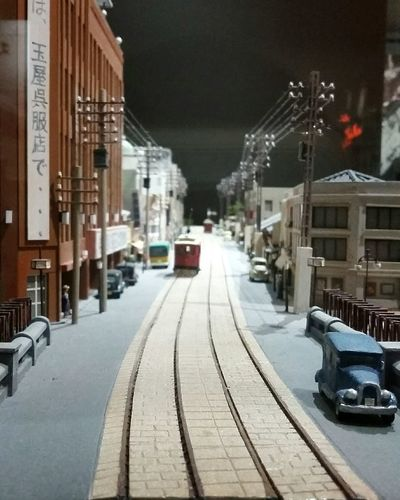 Miniature Japan Old Japan Street City Life Road Architecture Built Structure Car Vintage Vintage Style Structural Model No People Model - Object Structure Samsung Shot