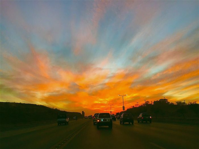 Urban sunset Sunset Sky Road Transportation Nature First Eyeem Photo