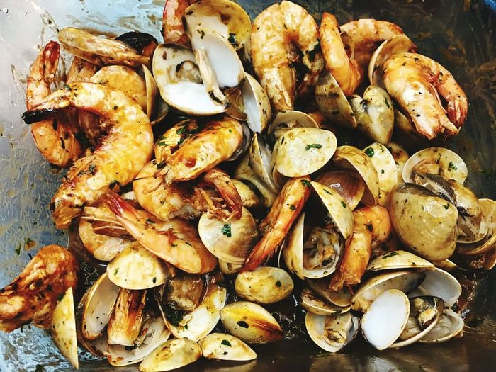 Seafood Seafood Outdoors Freshness Cooking BBQparty Bbq Seafood BBQ Party BBQ Clams Dish