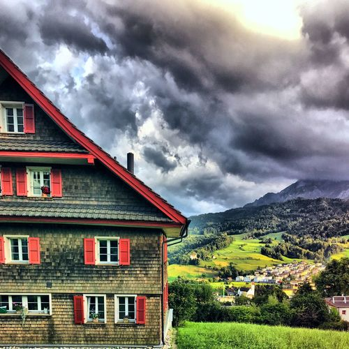 Switzerland Kriens Storm Green Green Color Pilatus Clouds Building Exterior Built Structure House Architecture Sky Cloud - Sky No People Weather Outdoors Nature Scenics Landscape Rural Scene