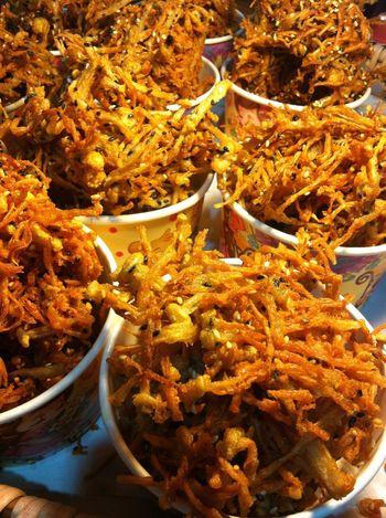 Street Food Worldwide Thai Street Food Fried Mushrooms Enoki Fried Crispy Mushrooms Snack Time! Snacktime