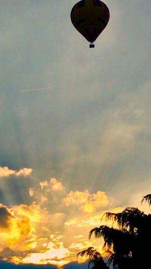 Heißluftballon Sky Cloud - Sky Sunset Beauty In Nature Scenics - Nature Nature Low Angle View