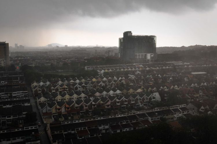 Dark Skies Raining Stormy Weather Architecture Brooding Sky Building Exterior Built Structure City Cityscape Day No People Outdoors Rainy Day Sky Stormy