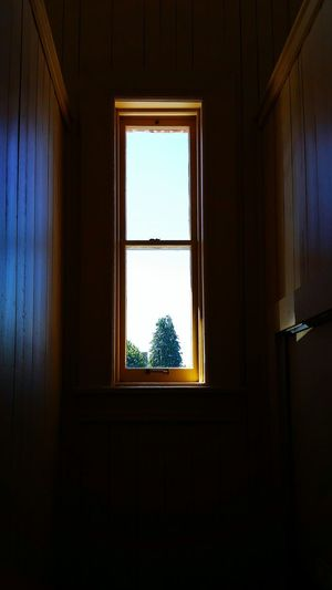 Narrow view of things Window Frame Architecture Old-fashioned Planked Wall Antique Building Built Structure Window View